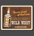 whiskey bar saloon wild west cowboy pub vector image vector image