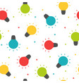 colorful shining bulbs seamless pattern party vector image