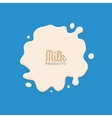 Milk Splashing Isolated on blue background Milk vector image