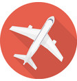 Airplane icon red vector image