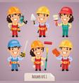 builders set1 1 vector image