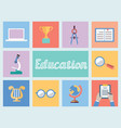 Concept of education Flat style design vector image