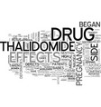 a look at the thalidomide tragedy text word cloud vector image vector image