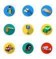 a set of icons for parking cars and bicycles vector image vector image