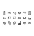 banking and finance icons set 1 vector image
