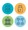 business and finances set icons vector image