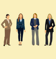 businesswomen in suits vector image vector image