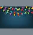 carnival garland with pennants decorative vector image vector image