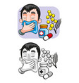 cartoon allergy template vector image vector image