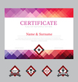 Certificate template layout background frame vector image vector image
