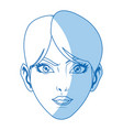 character female face beauty short hair image vector image