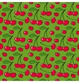 Cherries - seamless pattern vector image vector image