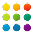 Color Labels Set vector image