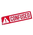 Confused rubber stamp vector image