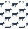 cows seamless pattern vector image vector image