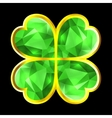 Crystal Clover vector image vector image