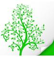 decorative tree embossed green ornamental vector image vector image