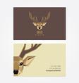 Deer business card vector image