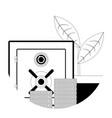 deposit line icon vector image vector image