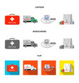 design of pharmacy and hospital icon set vector image