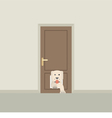 Dog Passing Through The Door For Dog vector image vector image