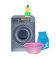 doing laundry poster with washing machine vector image
