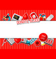 donate blood background with blood donation items vector image vector image