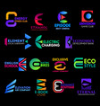 e icons digital technology corporate identity vector image vector image