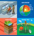 earth exploration isometric design concept vector image