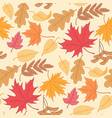 fallling leaves pattern vector image vector image