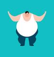 fat happy stout guy merryl emoji vector image vector image