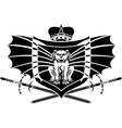 gargoyle shield vector image vector image