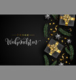 german christmas card of gift and holiday objects vector image vector image