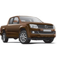 germany mid size pickup truck vector image vector image