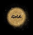 Gold glittering circle vector image