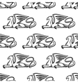 Gryphon seamless pattern vector image vector image
