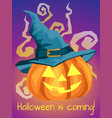 halloween background with halloween is coming text vector image vector image