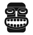 hawaii idol head icon simple style vector image vector image