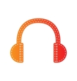 Headphones sign Orange applique vector image vector image