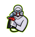 industrial spray painter mascot vector image
