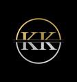 initial kk letter logo design abstract letter kk vector image vector image