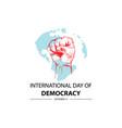 international day democracy september 15 vector image vector image