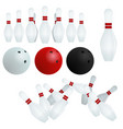 isolated skittles white red black balls vector image
