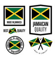 jamaica quality label set for goods vector image vector image