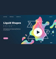 liquid shapes web page colored dynamic style vector image
