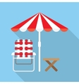 Lounger Beach Sunbed vector image