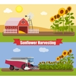 Modern combine harvester tractor working a vector image