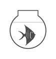 monochrome icon set with aquarium vector image vector image