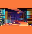 neon futuristic cityscape vector image vector image