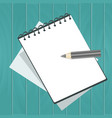 notebook note book with sheets with pencil vector image